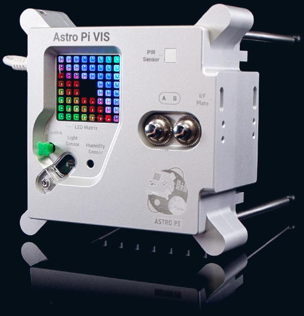 The Astro Pi Vis in its flight case.